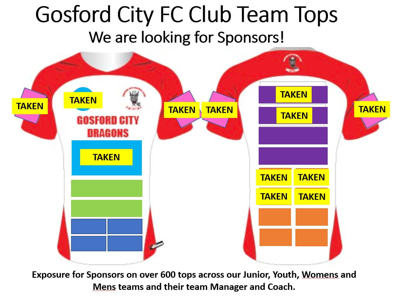 Club Team Tops looking for sponsors FB promo